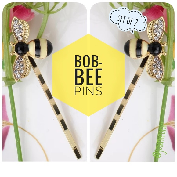 Accessories - 1 PAIR Honey BEE Bobby Pins